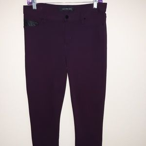 Burgundy jeggings Calvin Klein size 8 very comfy